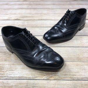 Florsheim Black Lexington Wingtip SZ 12 E Shoes